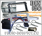 Ford C-Max, ab 2007 2 DIN, Radioblende Einbauset silber ovale Form