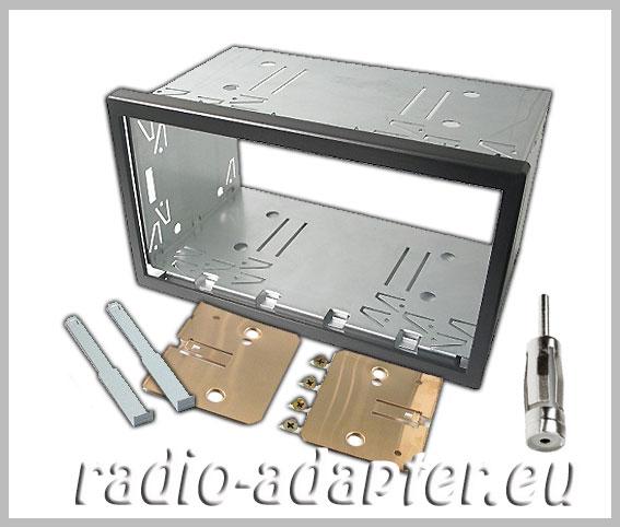 vw lupo doppel din radioblende einbauschacht radioeinbaurahmen car hifi radio. Black Bedroom Furniture Sets. Home Design Ideas